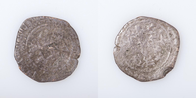Fracción de dinar de al-Qadir de Toledo. Museo Arqueológico Nacional.