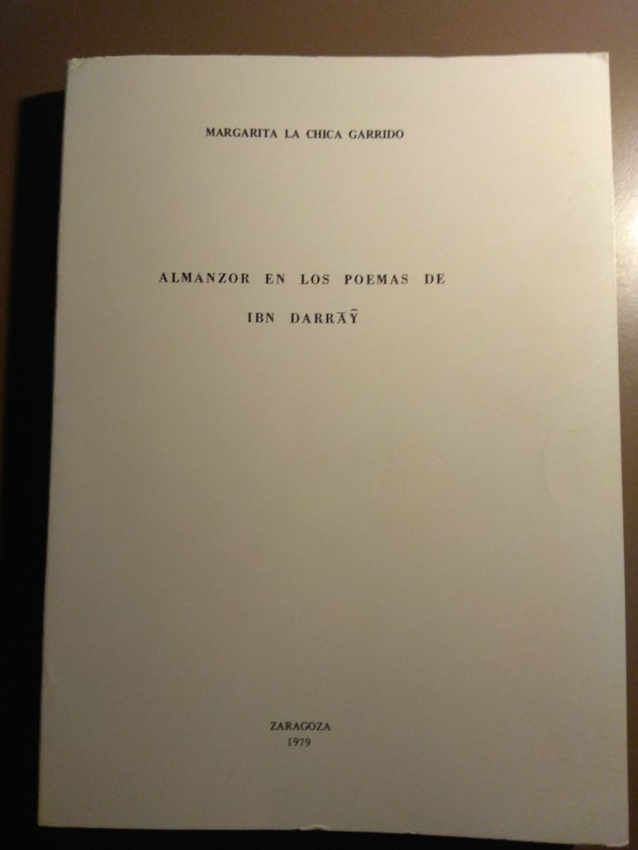 Almanzor en los Poemas de Ibn Darrāŷ Book Cover