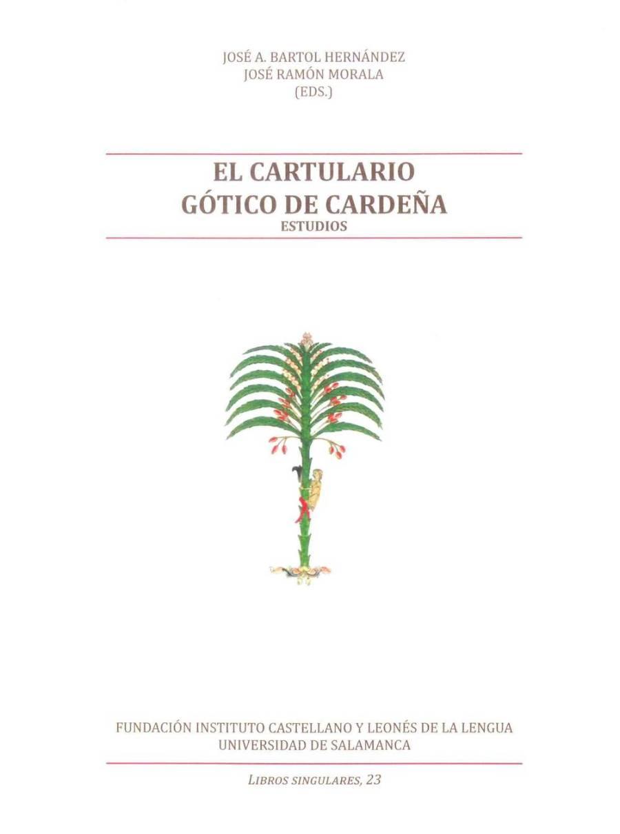 El cartulario gótico de Cardeña - Estudios Book Cover