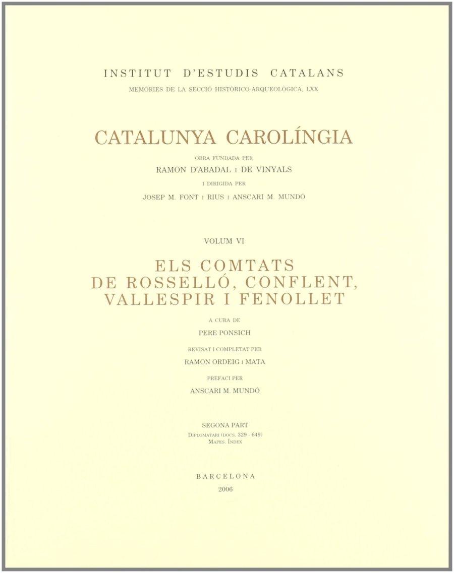 Els comtats de Rosselló, Conflent, Vallespir i Fenollet, Segona Part Book Cover