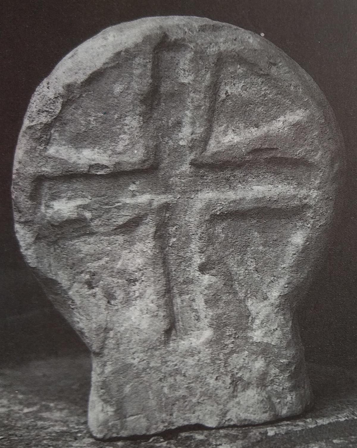 Estela altomedieval procedente de Santa Cecilia