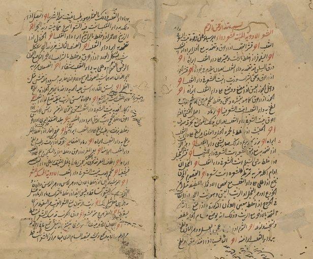 Manuscrito árabe de la Guía médica de Ibn Wafid o Libro de la Almohada