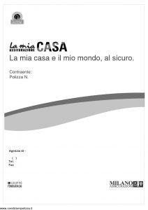 Milano Assicurazioni  La Mia Assicurazione Casa La Mia Casa E Il Mio Mondo Al Sicuro  Modello