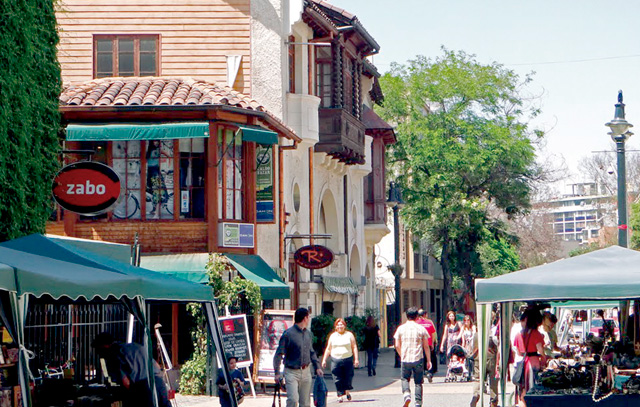Cafés, Restaurants und ein wenig Bohème-Flair: das Barrio Lastarria in Santiago de Chile