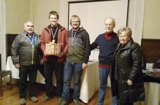 Die Siegermannschaft mit Marcelo Meza, Erwin Wendler, Fernando Hevia, Oswald Engel und Doris Cornils.