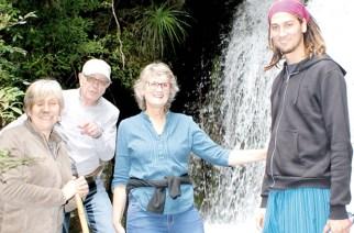 Am Ziel in den Voranden: Luz María Saitúa, Gerardo Hüne, Marion Schmidt-Hebbel und Marco Carrasco