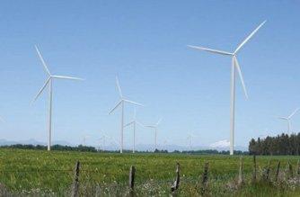 Die Fotomontage zeigt den zukünftigen Windpark Malleco in der Region Araucanía. Auftraggeber ist die deutsche Firma wpd aus Bremen.