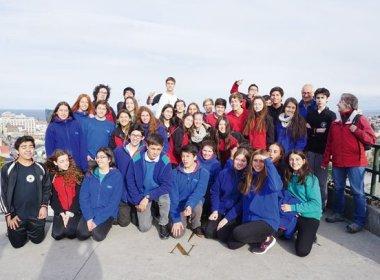 Schüleraustausch Punta Arenas und Osorno - Gruppenfoto der Deutschen Schulen