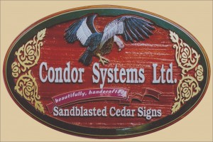 Condor Signs is a high quality sand blasted,artist painted handcrafted custom made cedar sign shop in Vernon BC>
