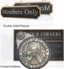 one or two sided options for a cast bronze plaque by condor signs vernon bc