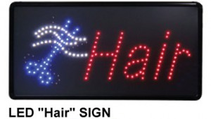 """LED hair salon sign"""