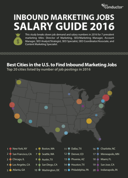The 2016 Marketing Jobs Salary Guide  Conductor Learning Center
