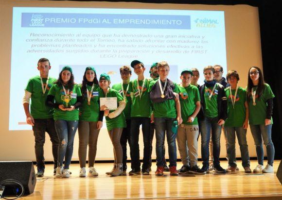 El equipo de robótica de SEK Alborán recoge el premio al emprendimiento de la FLL Almería