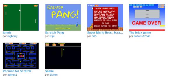 Juegos clásicos en Scratch
