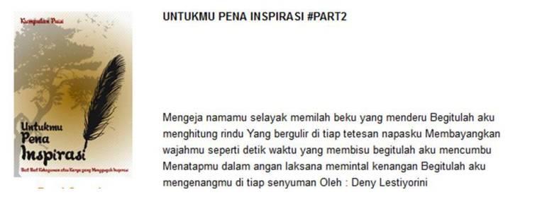 Untukmu Pena Inspirasi