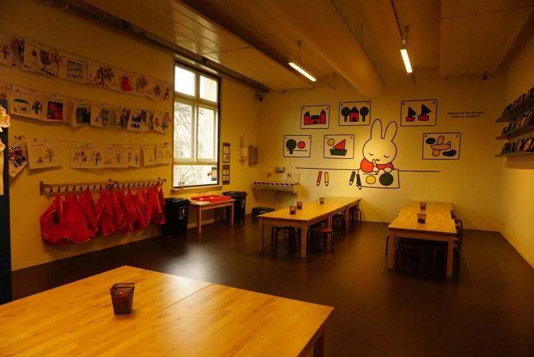 Tempat Workshop, anak-anak dalam grup bisa menggunakan ruangan ini untuk menggambar bersama.