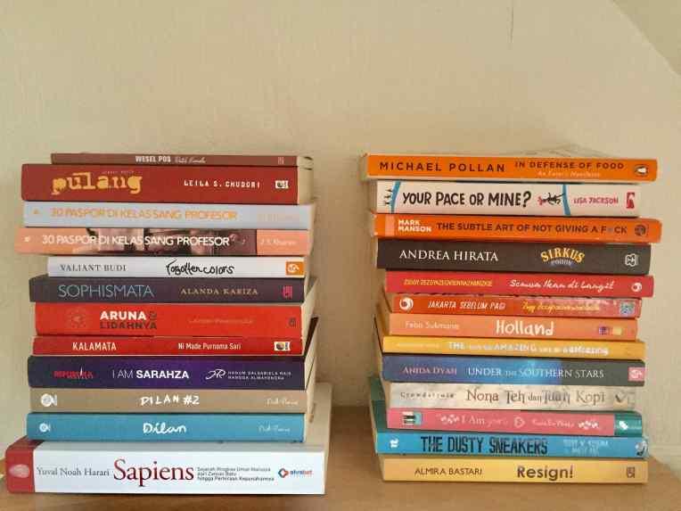 Buku-buku yang dihibahkan awal tahun 2019