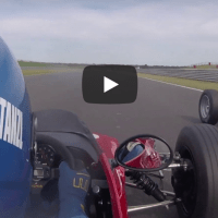 Classic formula ford racing action!
