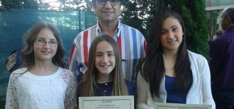 ALUMNES DEL CEIP JOSÉ MOLLÁ GUARDONADES AMB PREMIS EXTRAORDINARIS EDUCACIÓ PRIMÀRIA