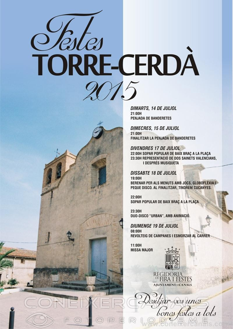 Programa de festes a Torre-Cerdà