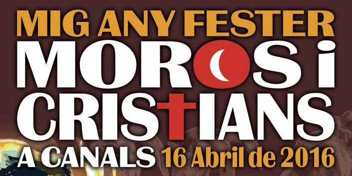 Canals celebra el mig any fester de Moros i Cristians el proper 16 d'abril.