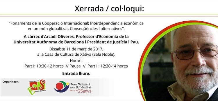 El Fons Valencià per la Solidaritat enceta un cicle de conferències amb Arcadi Olivares