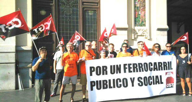 Vagues a Renfe i Adif: CGT continuarà amb les mobilitzacions