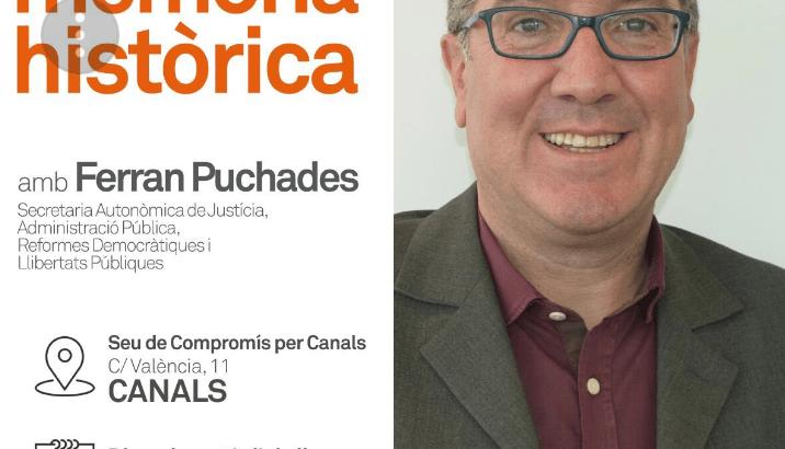 "Compromís organitza en Canals la xarrada ""Recuperant la memòria històrica"""