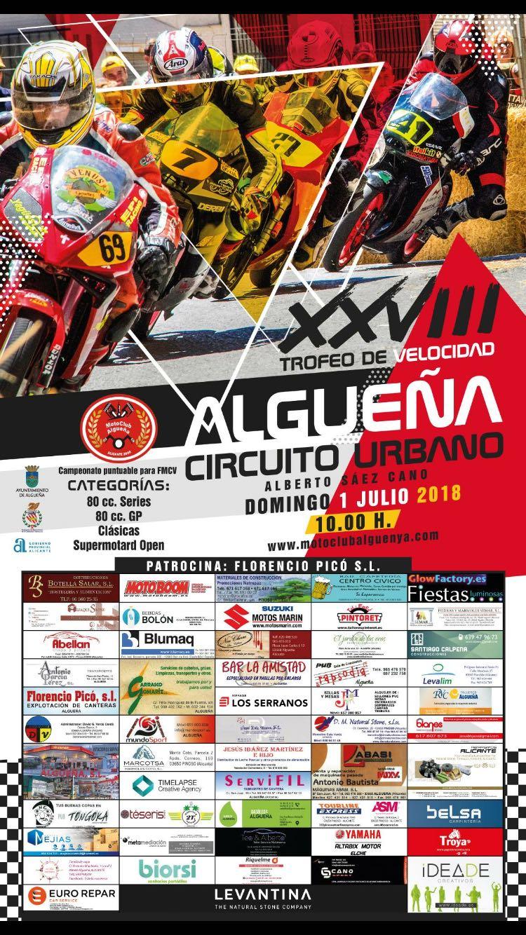 4 canalins en la carrera de motociclisme en Algueña