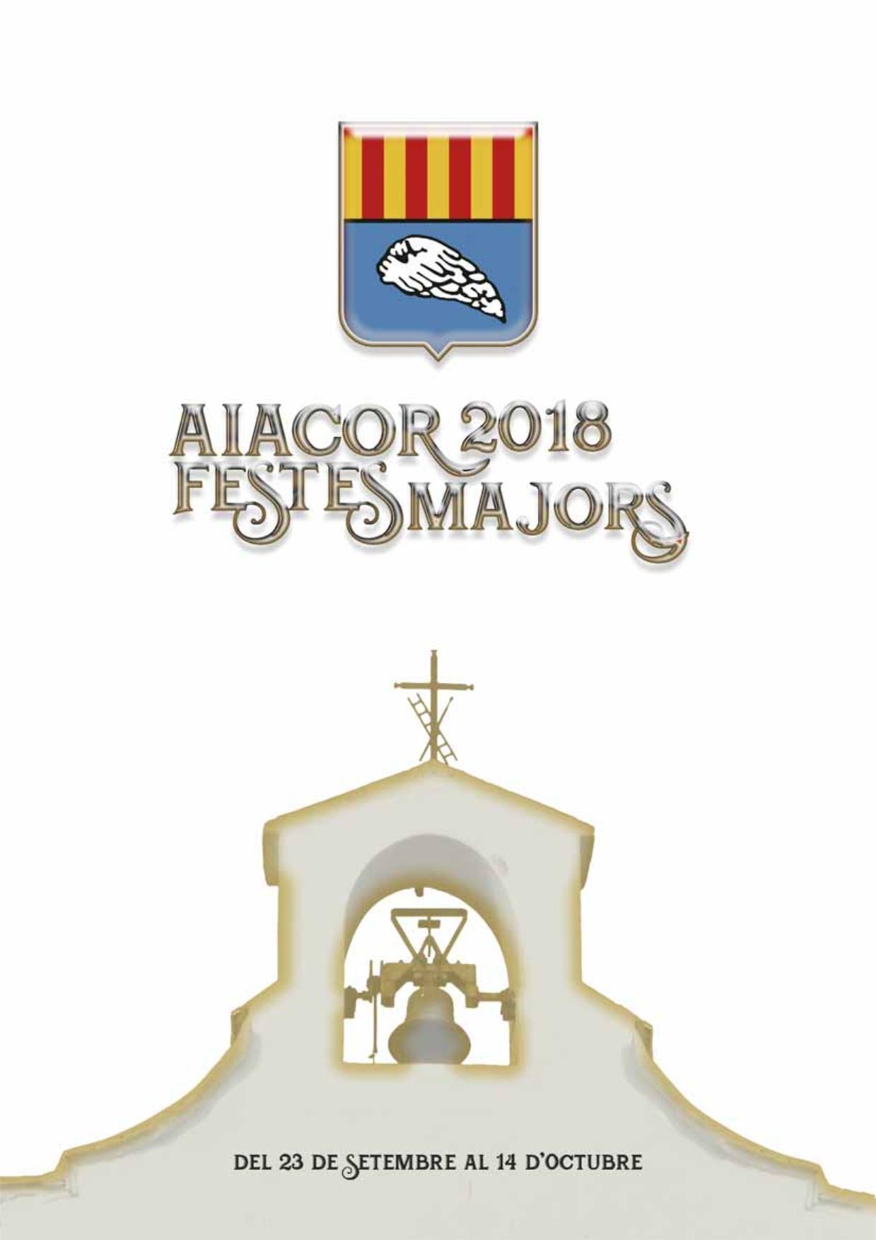Programació de les Festes Majors d'Aiacor 2018