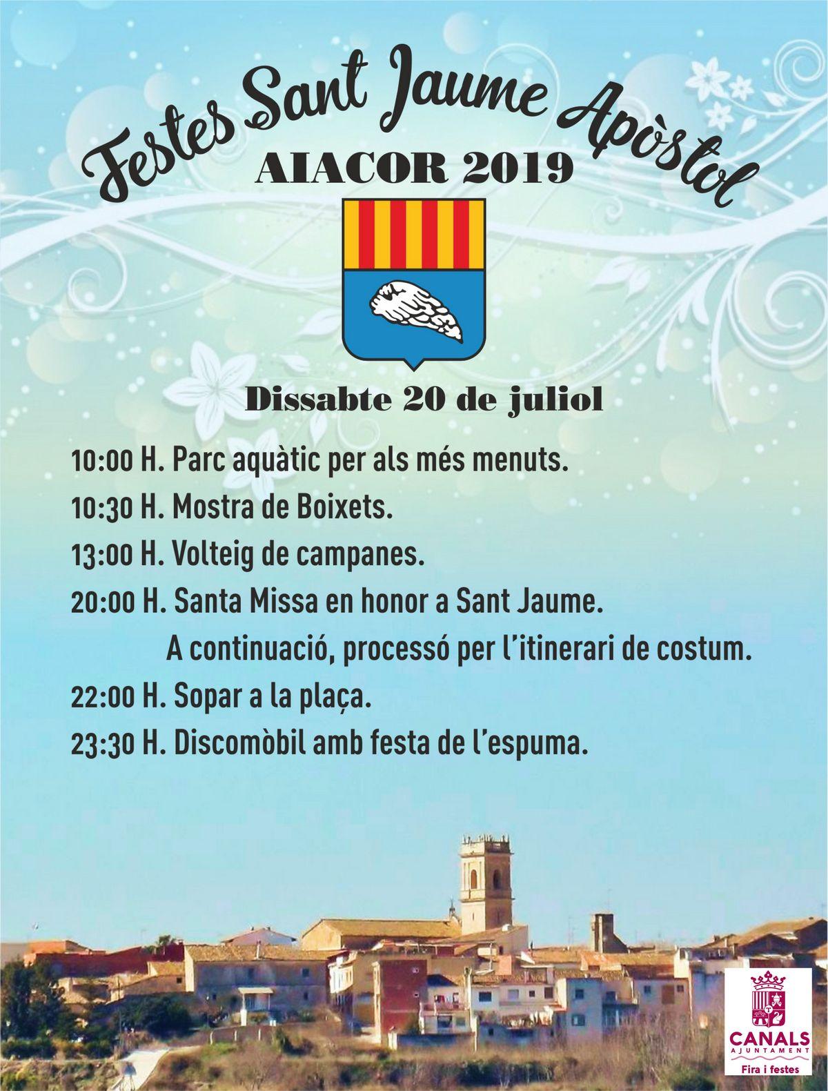 Aiacor celebra las fiestas de Sant Jaume este sábado.