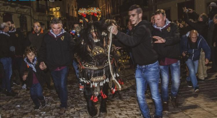 Canals celebra l'entrada de la primera 'soca' per a la Foguera de Sant Antoni de 2020