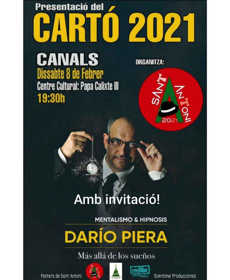 Canals presenta dissabte el Cartó de la Festa de Sant Antoni del 2021