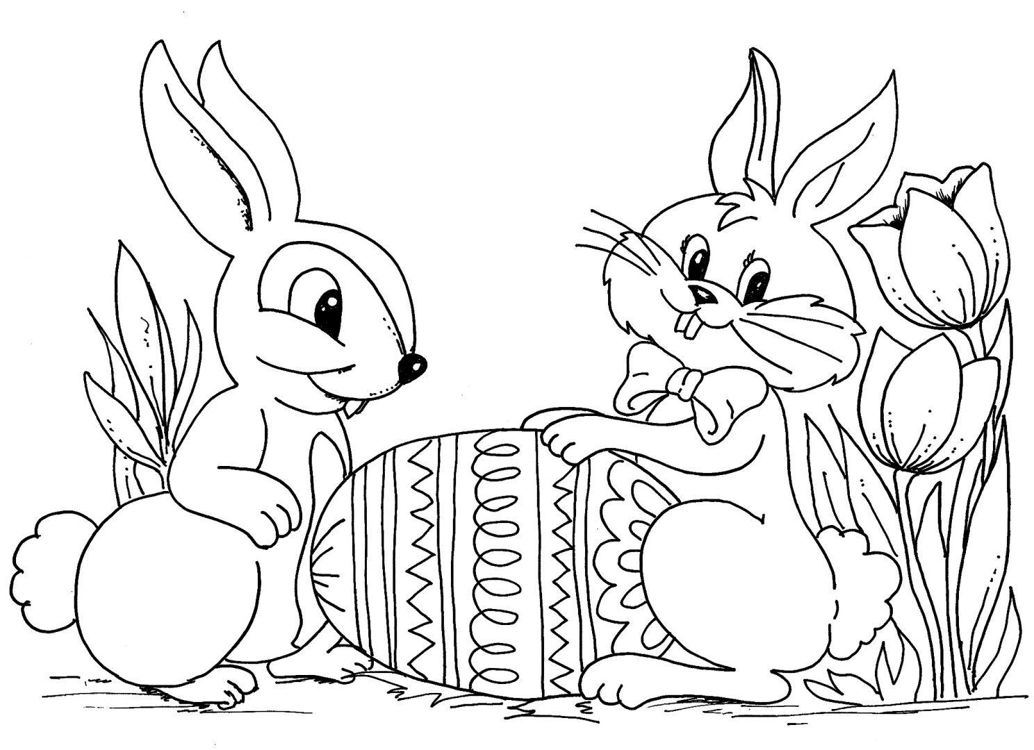 Conejos De Pascua Para Colorear Imagenes Y Fotos
