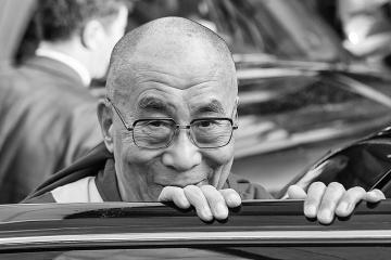 Dalai Lama at Glastonbury on Cone Magazine
