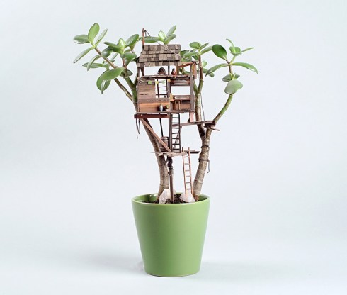 Houseplant treehouse on Cone Magazine