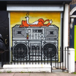 Fox on a Boom Box, Bozboz Brighton.