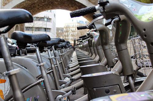 Vélib, as biciletas para aluguel da Prefeitura de Paris