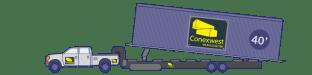 Tilt-bed truck and trailer
