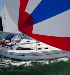 catalina 385 full sail [ 5479 x 3516 Pixel ]