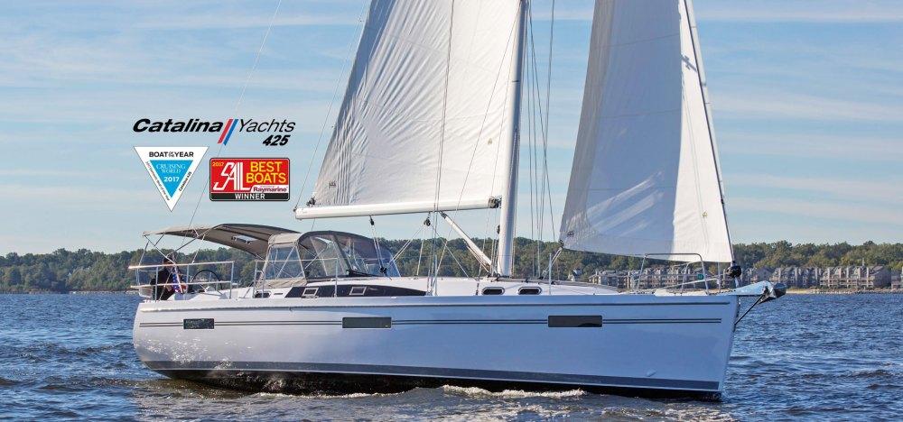 medium resolution of catalina 425 sailing cruising world 2017 boat of the year sail magazine 2017 best
