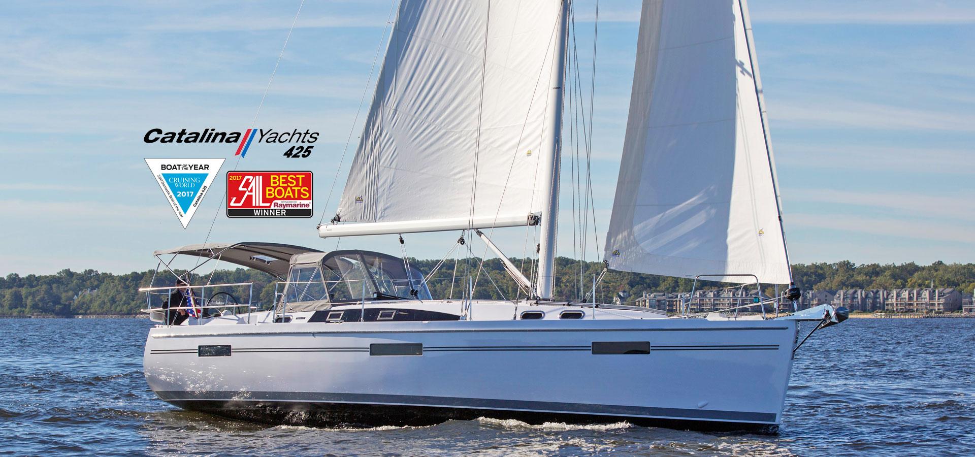 hight resolution of catalina 425 sailing cruising world 2017 boat of the year sail magazine 2017 best