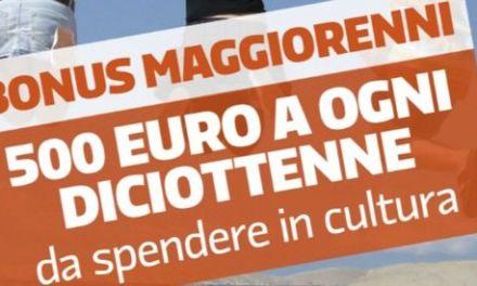Bonus di €500,00 per i 18enni: indicazioni per gli esercenti