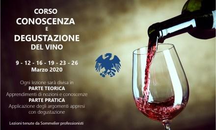 """Corso """"Conoscenza e degustazione del vino"""""""