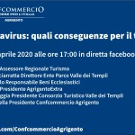 """""""Coronavirus: quali conseguenze per il turismo"""": mercoledì 8 aprile alle ore 17:00 diretta Facebook."""