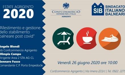 """""""Allestimento e gestione dello stabilimento balneare post Covid"""": incontro SIB il 26 giugno 2020"""