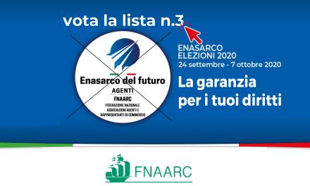Elezioni Enasarco 2020 – Vota la lista n.3 Enasarco del Futuro e difendi le nostre pensioni!