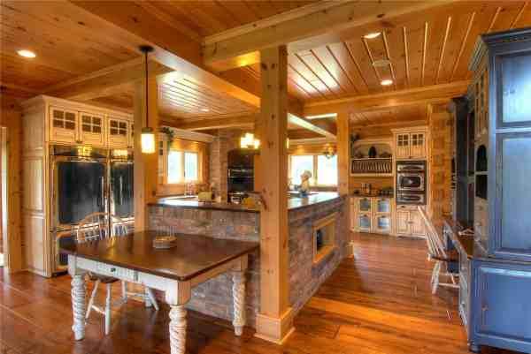 Fantastic Kitchen Confederation Log & Timber Frame