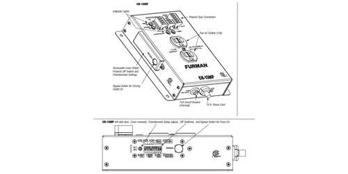 Furman CN-15MP 15A Remote Duplex, EVS, SmartSequencing