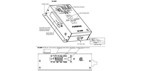 Furman CN-20MP 20A Remote Duplex, EVS, Smart Sequencing